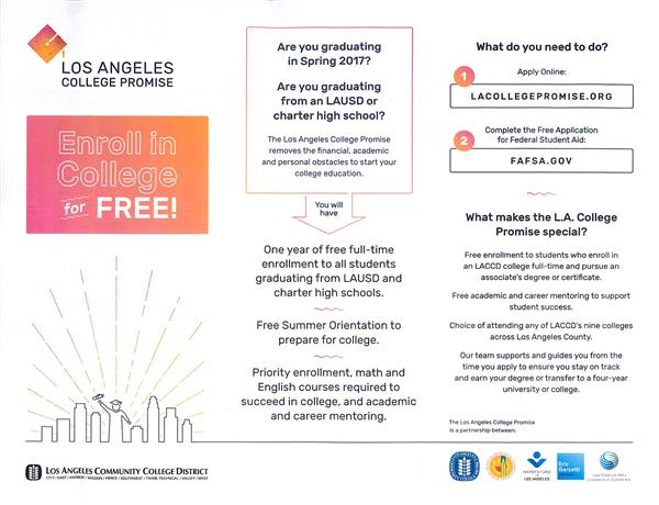 Free College! - Los Angeles College Promise