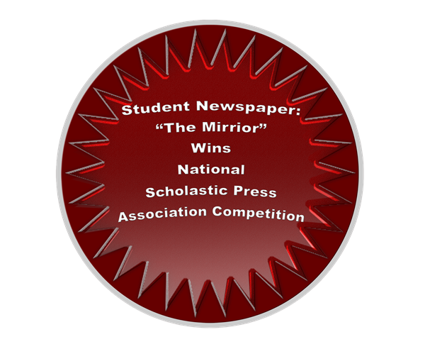 The Mirror Wins Two Awards in the Prestigious National Scholastic Press Association Competition for 2017